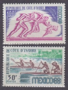1968 Ivory Coast Cote d'Ivoire 331-332 1968 Olympic Games in Mexiko 3,80 €