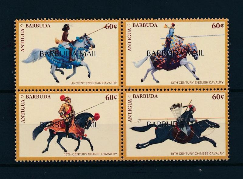 [57687] Barbuda 1998 Horse Cavalry with overprint Barbuda mail MNH