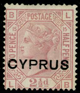 CYPRUS SG3, 2½d rosy mauve, UNUSED.