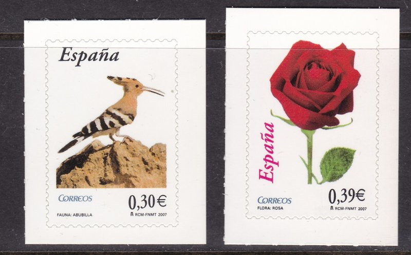 Spain, Fauna, Birds, Flowers MNH / 2007