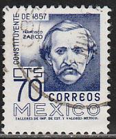 MEXICO 1093, 70c 1950 Defin 9th Issue Unwmkd Fosfo Glazed. USED. F-VF. (1447)