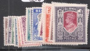 Burma SG 51-63 MNH (2dkt)