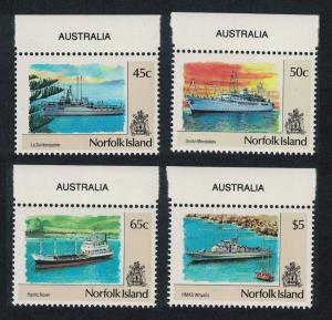 Norfolk Ships 4v issue February 1991 SG#486=494 SALE BELOW FACE VALUE