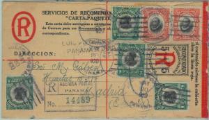 68768 -  Panama  - Postal History -  POSTAL STATIONERY COVER to MADRID 1920