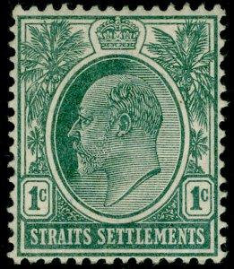 MALAYSIA - Straits Settlements SG123, 1c grey-green, LH MINT. WMK CA