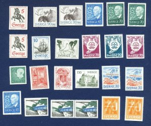 SWEDEN -  #717 // 789   VFMNH - sets & issues from 1967-1968