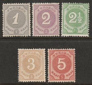 Netherlands Antilles 1889 Sc 13-7 set MH*
