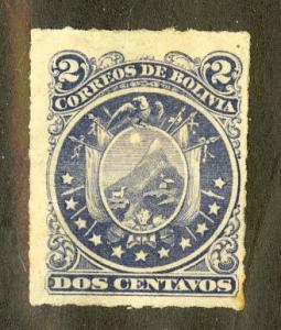 BOLIVIA 25 MH SCV $4.00 BIN $1.50 FLAGS