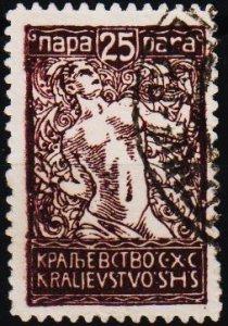 Yugoslavia. 1920 25p S.G.154 Fine Used