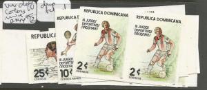 Dominican Republic 1979 Games SC 815-6, C298 Imprf Prs Diff. Colors MNH (5cuv)