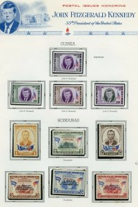 HONDURAS & GUINEA IMPERF JOHN F. KENNEDY MEMORIAL STAMPS MINT NEVER HINGED