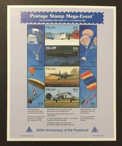 Palau 1997 #422-3 S/S, Parachute, MNH-2 Pics.