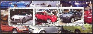 Benin 2003 Cars Sheet of 3 MNH Cinderella !