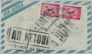 81440 - ARGENTINA - Postal History -  AIRMAIL COVER to BRAZIL : Returned ! 1962