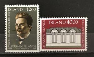 Iceland 1984  #600-1, MNH, CV $2.70