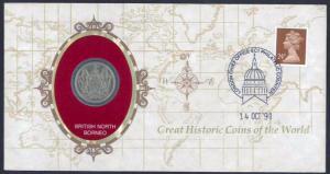 British North Borneo, 1903 Great Historic Coins Series, FDC