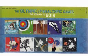 2009 OLYMPICS AND PARALYMPICS PRESENTATION PACK No M18