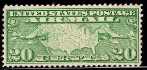US Stamp #C9 MINT Hinged SCV $6.50