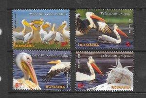 BIRDS - ROMANIA #5672-5  MNH