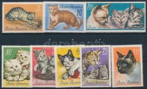 Romania stamp Cats set + 3 FDC Cover 1965 Mi 2387-2394 WS194899