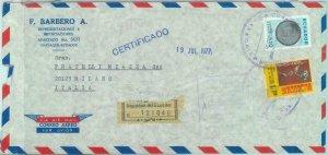 84276 - ECUADOR - POSTAL HISTORY -  REGISTERED COVER to ITALY  1977