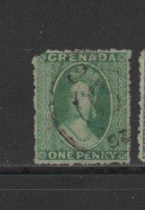 GRENADA #3  1864  1p  QUEEN VICTORIA     F-VF  USED  a