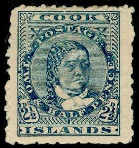 COOK ISLANDS SG27, 2½d dull blue, UNUSED. Cat £13.