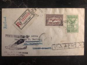 1931 Buenos Aires ARgentina First Flight Cover FFC To St Thomas Virgin Islands