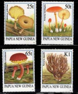 PNG Papua New Guinea Scott 872-875 MNH** Mushroom stamp set