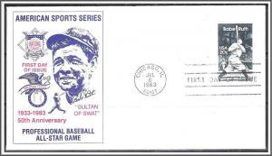 US #2046 Babe Ruth FDC