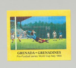 Grenada Grenadines 1990 Soccer 1v Imperf Proof of S/S