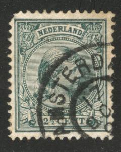 Netherlands Scott 47 used Princess Wilhelmina  1891-1894