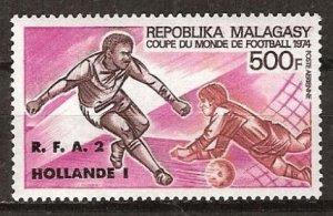 1974 Malagasy Republic 718 overprint -R.F.A-3 HOLLANDE-1
