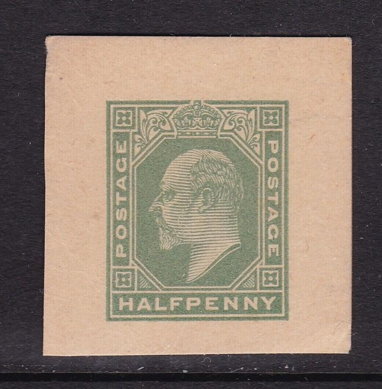 GB Edward VII 0.5d Cutout VFU VGC