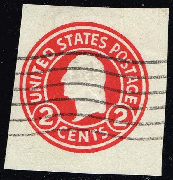 US #U429 George Washington; Used Cut Square (0.25)
