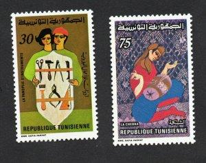 1980 - Tunisia - Handwork- Handicrafts :An Array of Instruments,The Chebka MNH**