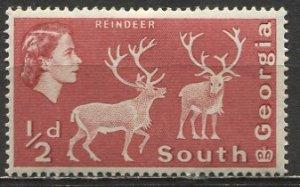 South Georgia; 1963; Sc. # 1; *+/MLH Single Stamp