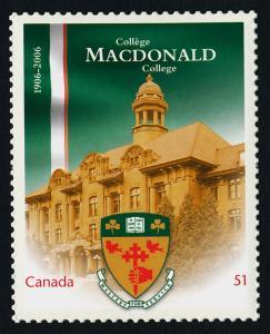 Canada 2172i MNH MacDonald College, Crest