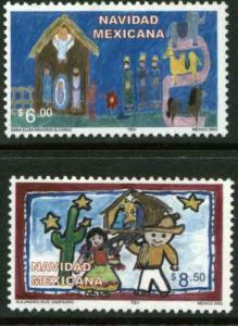 MEXICO 2304-2305, CHRISTMAS HOLIDAYS, 2002. MINT, NH. VF.