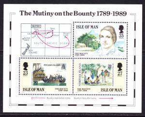 Isle of Man #394 MNH S/S CV$3.50 Mutiny Bounty Fletcher Christian Pitcairn