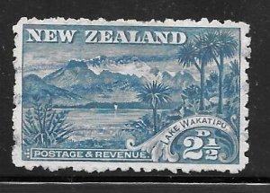 New Zealand 74: 2.5d Lake Wakatipu, used, F-VF