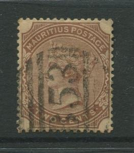 STAMP STATION PERTH: Mauritius #69 FU 1882  Single 2c Stamp