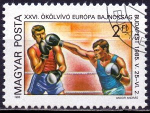 Hungary. 1985. 3750. Boxing. USED.