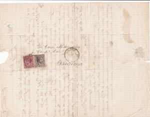 Spain 19th centuary stamps cover Ref 8362