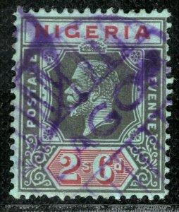NIGERIA KGV Stamp SG.9 2s/6d High Value (1914) *LAGOS* Violet Postmark LBLUE21