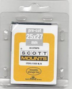 SCOTT MOUNT 909B, 25 MM X 27 MM, RETAIL $3.50