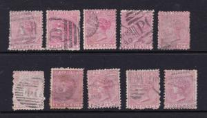 New Zealand x 10 unsorted used 2d  from 1874 1st sideface