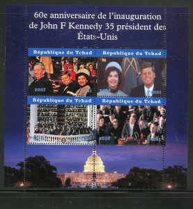 Chad 2021 60th Ann of Inauguration of John F. Kennedy sheet mint never hinged