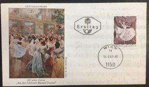 Austria #786 FDC 100 Jahre Walzer - Karte (ANK#1263A, Mi#1233A) Ballet Dancer