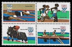 PCBstamps     US #1791/1794a Block 60c(4x15c)Summer Olympics, MNH, (12)